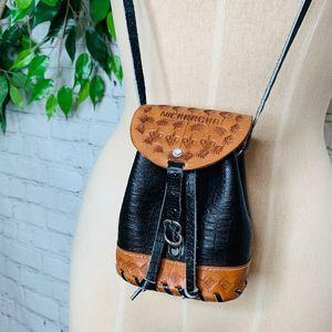 Vintage Handmade Nicaragura Leather Small Bag